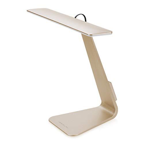 Xyfw Augenschutz Tragbare Tischlampe Ultradünne, 3 Maß An Helligkeit Stil Entsprechend MacBook Silber,Gold