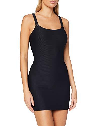 Emporio Armani Swimwear Damen Little Dress Beachwear SAIL Away Strandkleid, Schwarz (Nero 00020), 38 (Herstellergröße: M)
