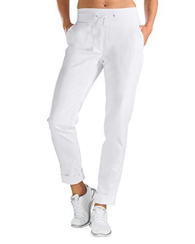 CLINIC DRESS Hose Damen-Hose mit Strickbund Wide Cut 2 Seitentaschen Schrittlänge ca. 80cm 60 Grad Wäsche weiß 44