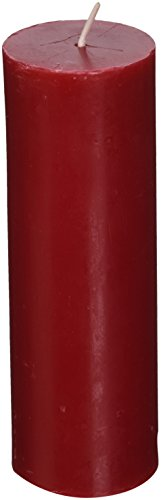 Zest Candle Pillar Candle, 2 by 6-Inch, Red