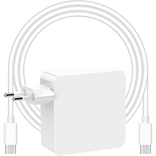 Adattatore di alimentazione per caricabatterie USB C da 87W, compatibile con caricabatterie MacBook Pro 13/15 pollici, per Mac Book Air 13 pollici 2020 2019 2018, Funziona con USB C 61W 30W 29W