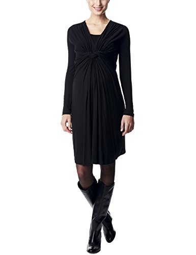 ESPRIT Maternity Damen Umstandskleid mit Stillfunktion, Knielang, Einfarbig, Gr. 40 (Herstellergröße: L), Schwarz (Black 001)
