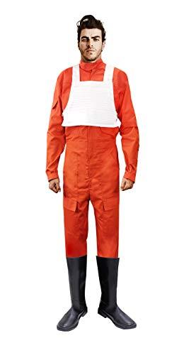 X-Wing Rebel Fighter Pilot Orange Jumpsuit + White Flak Vest Star Wars Kostüm - Mehrfarbig - X-Groß