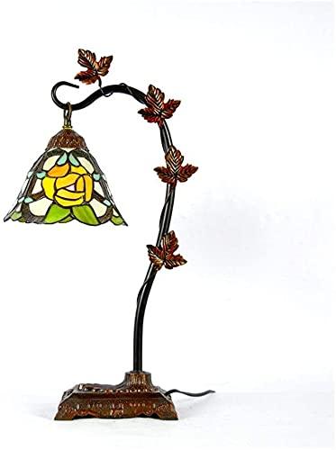 Lámpara de escritorio de 8 pulgadas Jardín coreano Tiffany Lámpara de mesa dormitorio de noche