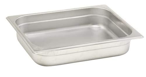 Pentole Agnelli Bassine Gastronorm 2/3, Acier Inoxydable 35.4x32.5x6.5 cm
