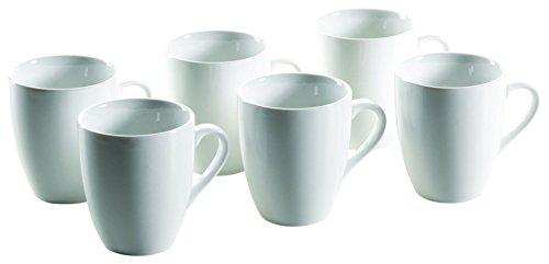Mäser, Serie Colombia, Kaffeebecher 31 cl, Porzellan Geschirr-Set für 6 Personen