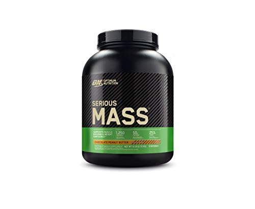 Optimum Nutrition Serious Mass Weight Gainer Protein Powder, Vitamin C, Zinc and Vitamin D for Immune Support, Chocolate Peanut Butter, 6 Pound (Packaging May Vary)