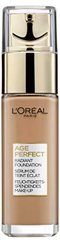 L'Oréal Paris Age Perfect Feuchtigkeitsspendendes Make-Up 400 Golden Amber, LSF 17, für reife Haut, strahlender natürlicher Teint, 1er Pack (1 x 30 ml)