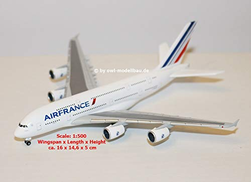 Herpa 515634-004 A380 Air France, Colorato