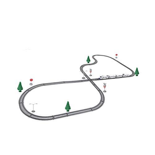 LIUFS-Schienenfahrzeuge Spur Der Bahn-Eisenbahnwaggons Der Kinder Bahn-Hochgeschwindigkeitsbahn-Modellbahn-Pier-Tunnel-Auto-Bahnmodell (Farbe : Charging kit, größe : 43 Piece Set)