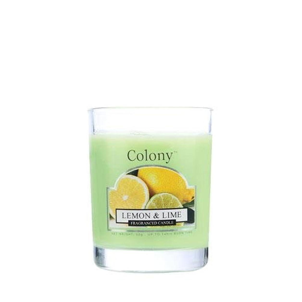 ランチにじみ出るブラシWAX LYRICAL ENGLAND Colony HomeScents Series ミニワックスキャンドル レモン&ライム CNCH3668