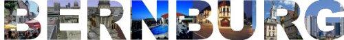 PEMA INDIGOS UG - Wandtattoo Wandsticker Wandaufkleber - Aufkleber farbige Wandschrift Städtename Städtename Bernburg mit Sehenswürdigkeiten 120 x 14 cm Länge