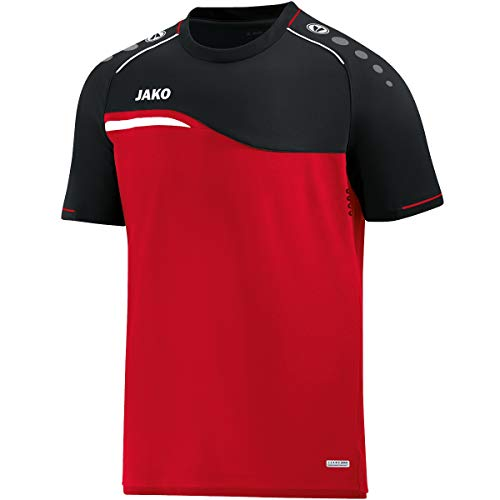 JAKO Kinder T-Shirt Competition 2.0, rot/schwarz, 152