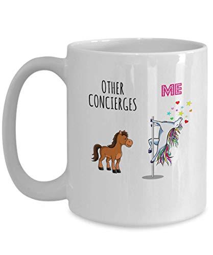 Conserje Unicornio Taza de café Otros y yo Taza de agradecimiento al trabajo divertido Ideas para regalos lindos 11oz