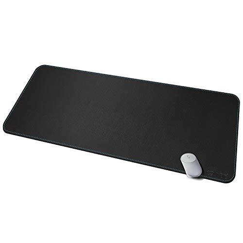 CENNBIE 120 * 50cm Cuero Artificial Alfombrillas de ratón,almohadilla de escritorio escritorio Oficina Antideslizantes(Negro)