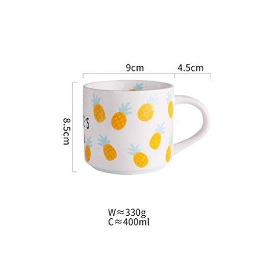 Erjialiu schattig ananas keramische koffie mok koffie melk thee water bekers ontbijt liefhebber cadeau