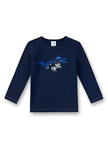 Sanetta Jungen Langarmshirt T-Shirt, Blau (Nordic Blue 5962), (Herstellergröße: 104)