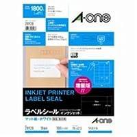 ( お徳用 10セット ) エーワン インクジェット用ラベル/宛名シール 【A4/18面 100枚】 28928
