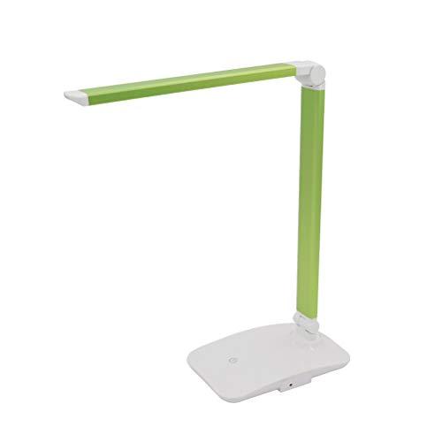 LEDMOMO Dimmbare LED-Schreibtischlampe mit Schwenkarm, verstellbarer Lichtpegel, Schreibtischleuchte (grün)