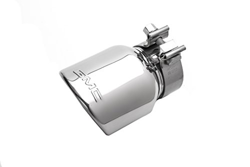 GM Accessories 23238760 3.6L Polished Stainless Steel Dual-Wall Angle-Cut Exhaust Tip with GMC Logo