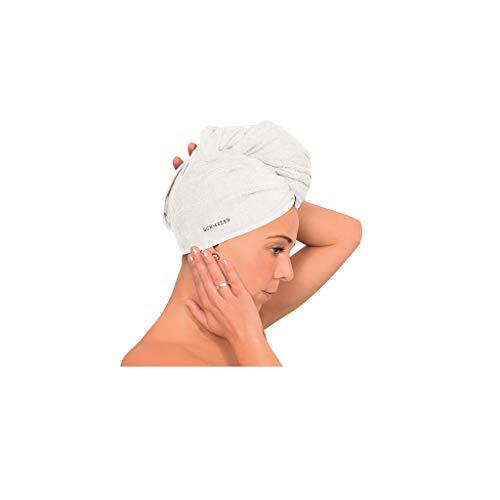 Schiesser Frottier Turban Haartrockentuch, Farbe:weiß