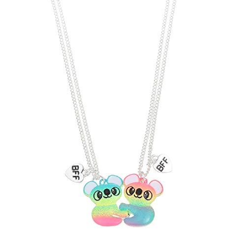 2 Pcs Set Best Friends Magnetic Half Heart Pendant Panda Koala Necklace Charm BFF Friendship Jewelry for Women Girls - Panda