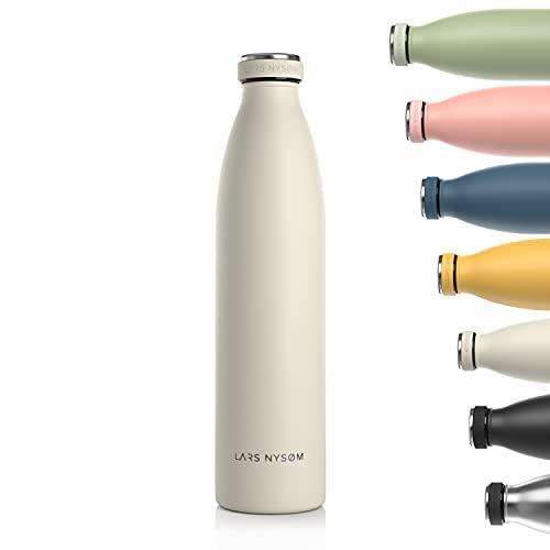 Lars NYSØM Borraccia Termica 1 litro in Acciaio Inox | Bottiglia isolata Senza BPA 1000ml | Bottiglia d Acqua a Tenuta stagna per Sport, Bicicletta, Cane, Bambino, Bambini