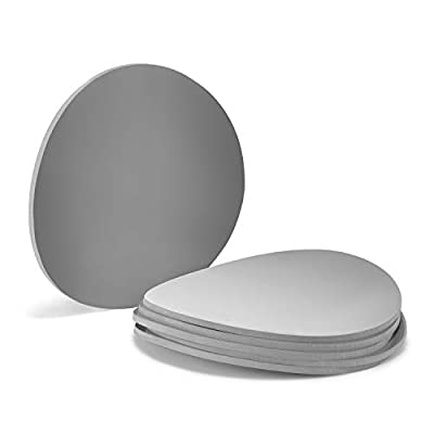 Silicone Mason Jar Lid, Writable, Set of 6, Fits all Regular Mouth Mason Jars (Grey, Regular Mouth)