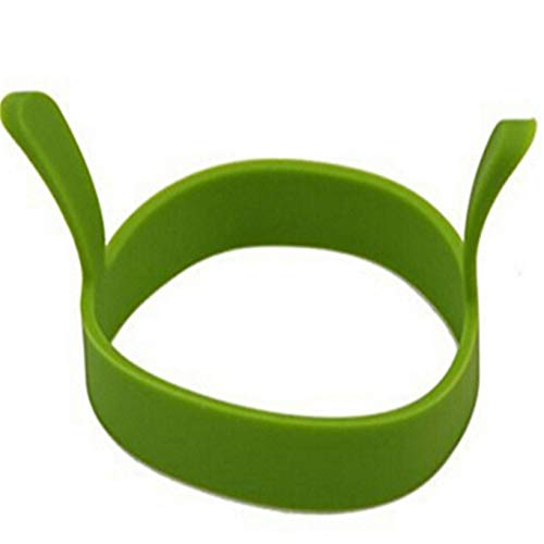 GOMYIE 4 Pcs Silicone Egg Ring Food Grade Material For Kitchen Cooking Pancake,green