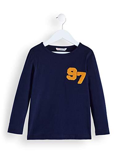 Amazon-Marke: RED WAGON Jungen Langarmshirt 97 Detail Long Sleeved Top, Blau (Navy), 104, Label:4 Years