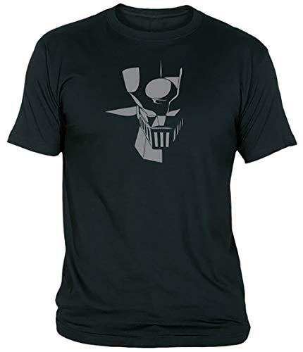 Camisetas EGB Camiseta Mazinger Z Adulto/niño ochenteras 80´s Retro (Negro, 4XL)