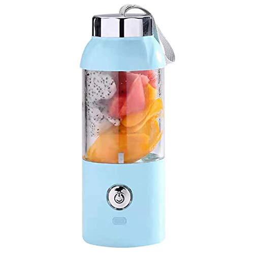 LQG Licuadora portátil, licuadora Personal, batidora de 550 ml, Taza de Jugo de Frutas, 2000 mAh Recargable para Oficina en casa, Viajes Deportivos al Aire Libre,Azul