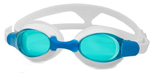 Aqua Speed Unisex Kinder Aliso Youth Schwimmbrille, weiß/blau, Einheitsgröße