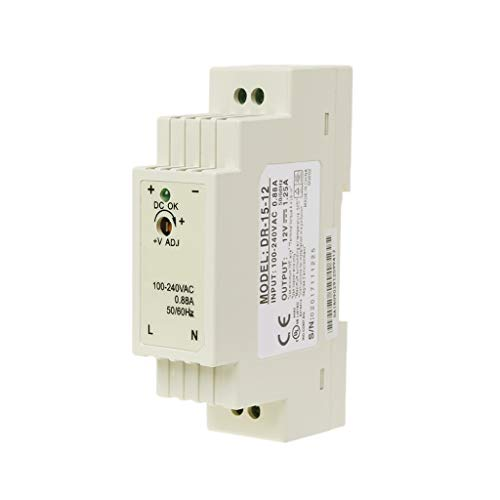 Yushu DR-15W Industrial DIN Rail Switching Fuente de alimentación 5V 12V 15V 24V DR-15W DIN Rail Type Small Switching Power Supply Equipos eléctricos