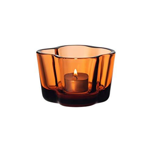 Iittala Alvar Aalto collection Windlicht, Glas, orange, 60mm