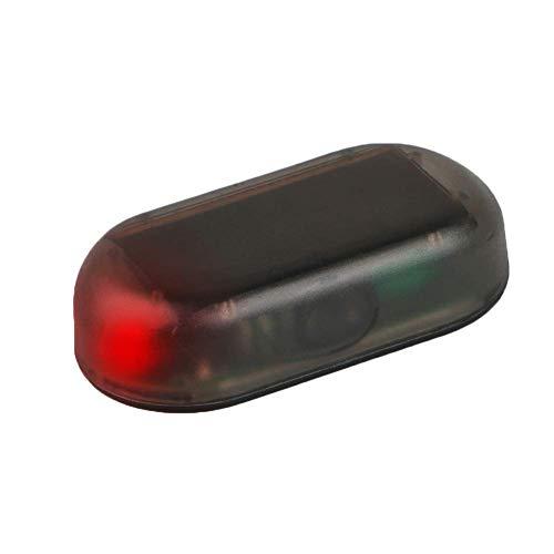 Selotrot Falsch Solar- Auto-Alarmanlage Led-Licht Auto Sicherheitssystem Anti-diebstahl Flasche Blinkend Kontrolllampe - Rotes Licht