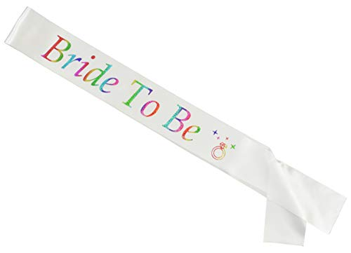 Bride to Be Sash (Glitter Rainbow)