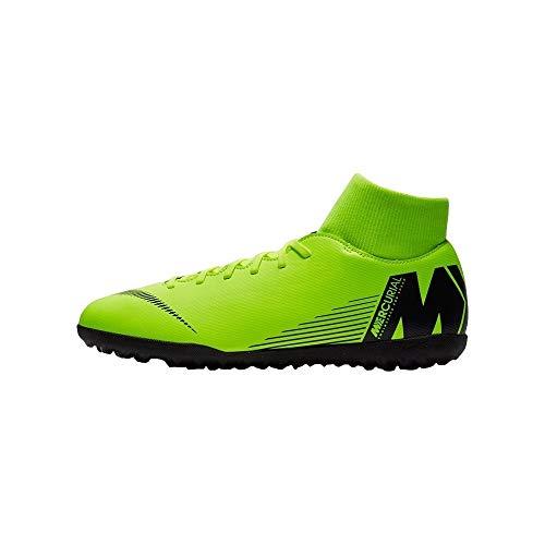 Nike Herren MercurialX Superfly VI Club Turf Fußballschuhe, Gelb (Volt/Black 701), 44 EU