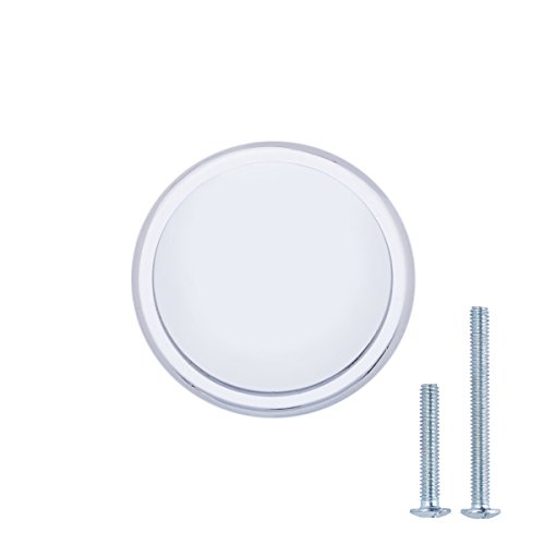 AmazonBasics Button Mushroom Cabinet Knob, 2,9cm Diameter, Poliertes Chrom, 10-Packung