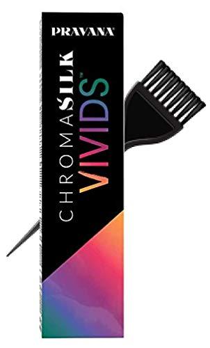 Pravana ChromaSilk VIVIDS Hair Color Shades with Silk & Keratin Amino Acids Dye (with Sleek Brush) Haircolor (Wild Orchid)