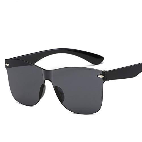 Gafas de sol de plástico degradado de 2021 para mujer, diseño colorido de moda sin marco, gafas de sol