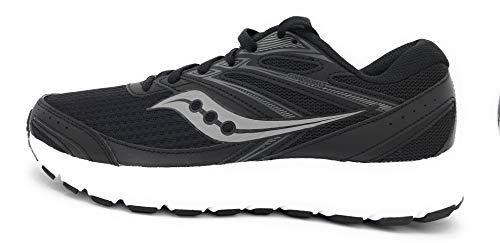 Saucony Women's Cohesion 13 Walking Shoe, Black/White, 8 M US