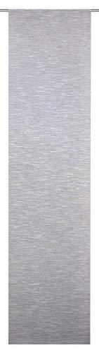 Home Fashion SCHIEBEVORHANG DEKO QUEREFFEKTE, Stoff, grau, 245 x 60 cm, 2-Einheiten