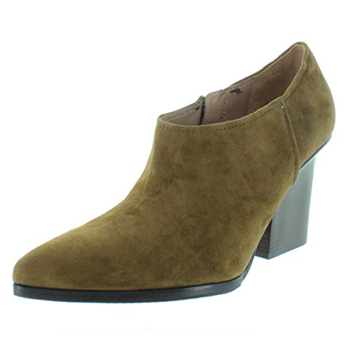 Donald J Pliner Womens Verie Leather Almond Toe Ankle, Khaki Suede, Size 7.0