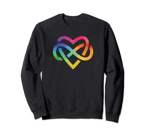 Corazón de acuarela arco iris Sudadera