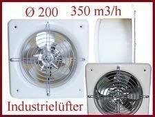 Industrie Wandlüfter Ø 200 mm Lüfter Ventilator verzinkt 350m3/h DOSPEL