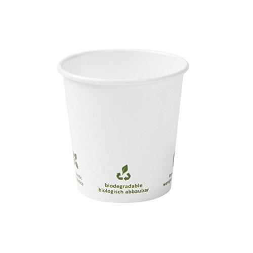 BIOZOYG Bio Pappbecher für Heißgetränke I Espresso Becher Einmalbecher Einweggeschirr biologisch abbaubar, kompostierbar I Einweg Espressobecher weiß mit Icondruck 1000 Stück 100ml 4 oz