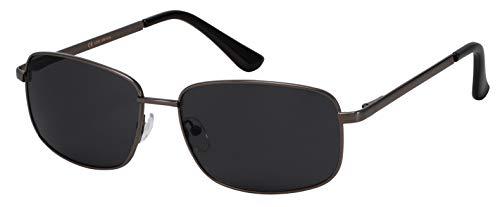 La Optica B.L.M. Sonnenbrille Damen Herren UV400 Pilotenbrille Fliegerbrille - Gunmetal Grau (Gläser: Grau)
