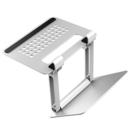 SOLUSTRE Soporte Plegable para Ordenador Portátil Soporte de Aluminio para Tablet Portátil Soporte Ajustable para Ordenador Soporte para Tablet de Escritorio Soporte para Tablet de Oficina