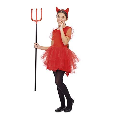 My Other Me Disfraz de Diablesa Roja con Tutú para niña